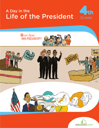 a day in the life of the president workbooks education social