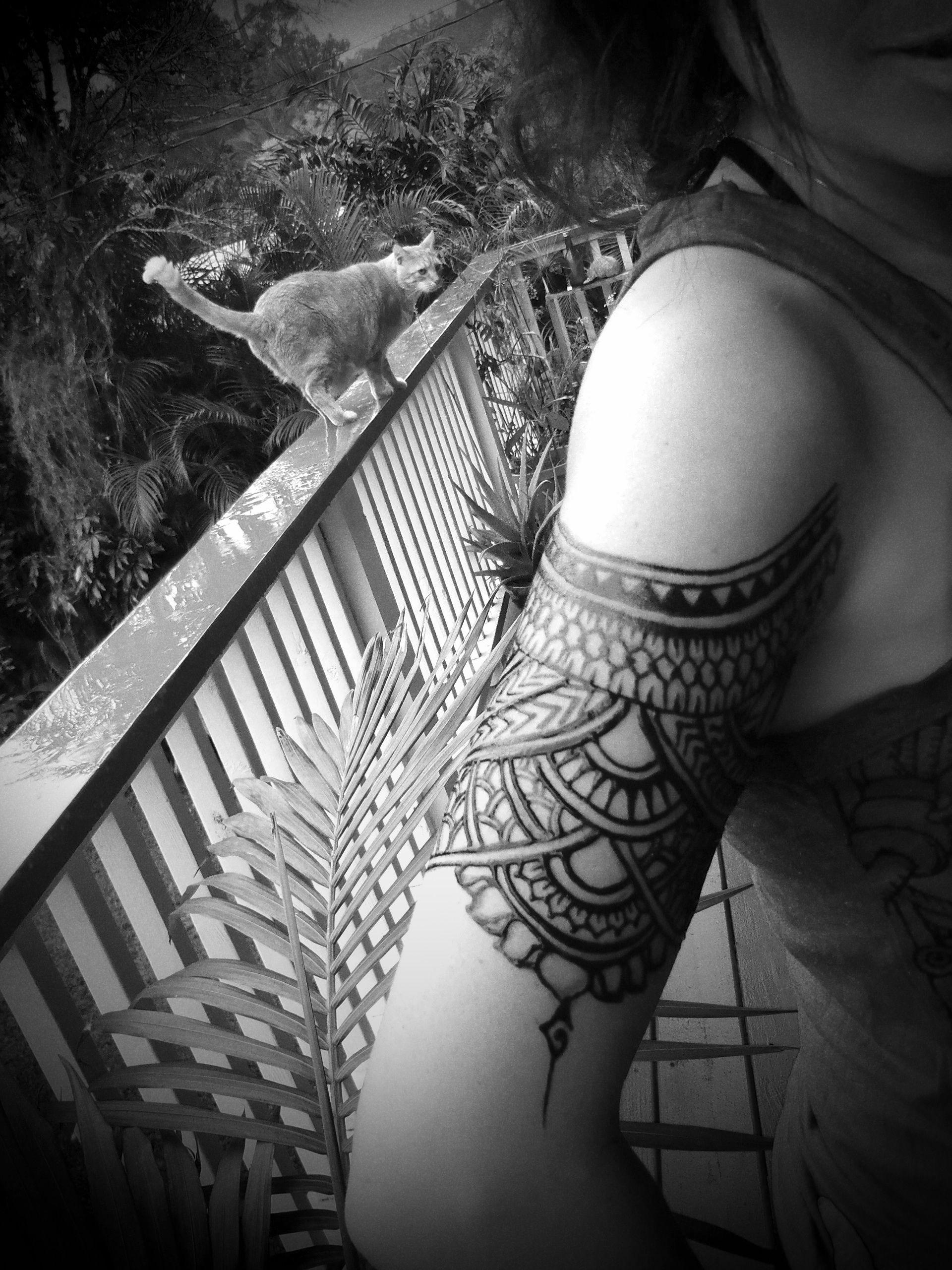 Polynesian Henna Tattoo: Jagua Body Art Polynesian Inspired Design By Catana