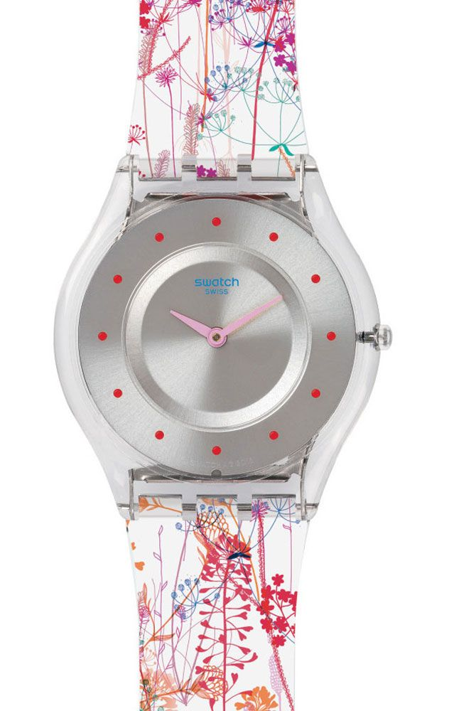 Reloj Swatch mujer jardin fleuri SFE102  7d9f2a734e68