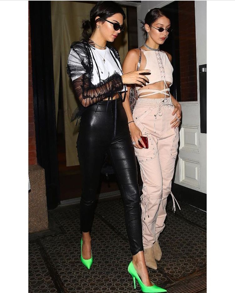 Kendall and Bella leaving the Mercer in New York City on Sunday . (4/30/17)