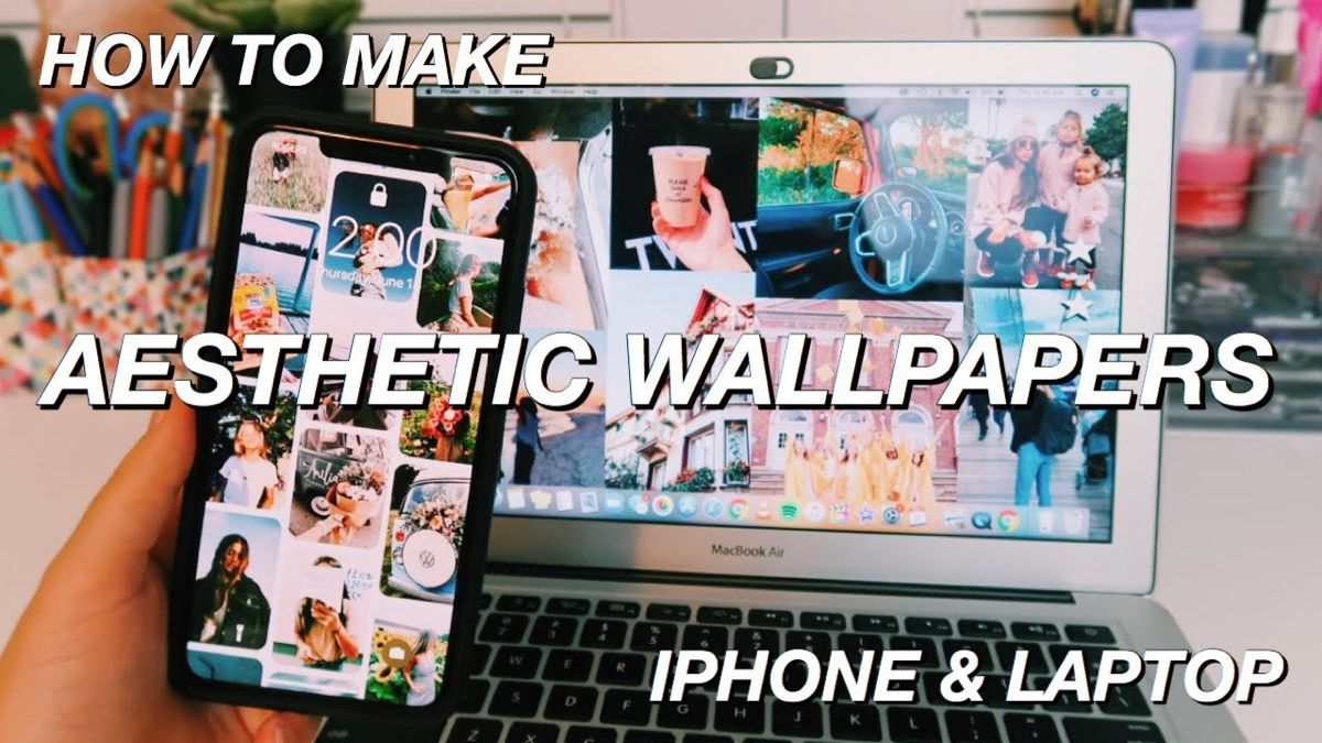 How To Make An Aesthetic Collage Wallpaper For Your Phone And Laptop Easy Youtube Aesthetic Collage Wallpaper For Your Phone Wallpaper