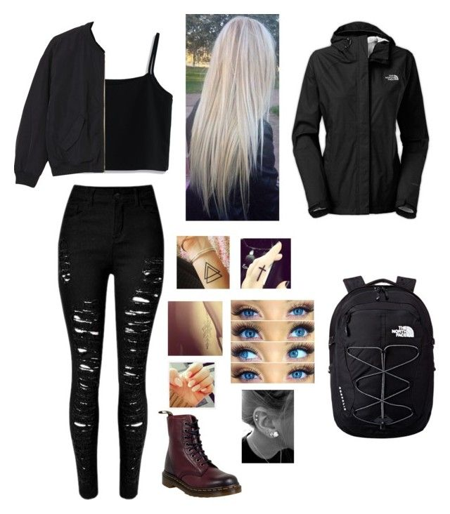 """""""Untitled #116"""" by secretslauren on Polyvore featuring Chicwish, Monki, Dr. Martens and The North Face"""