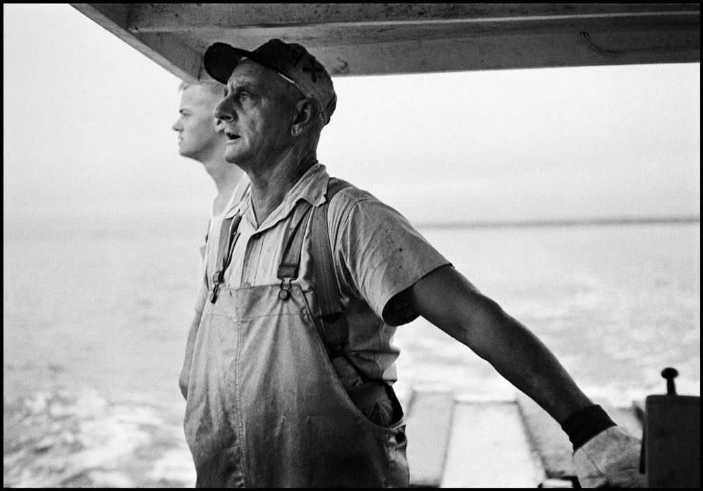 USA. Maine. 1953. Lobsterman. Erich Hartmann