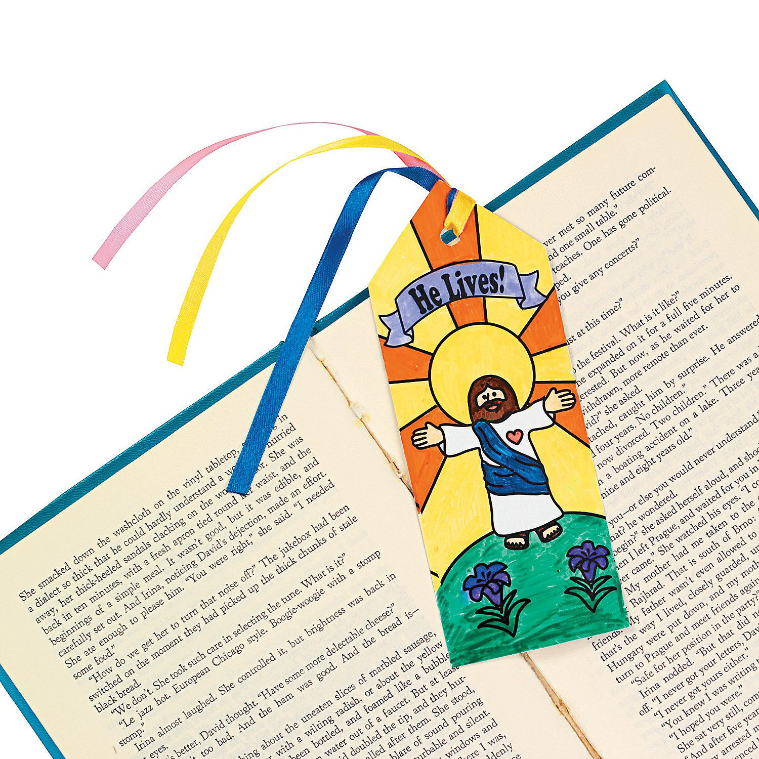 """Color Your Own """"He Lives!"""" Bookmarks - OrientalTrading com"""