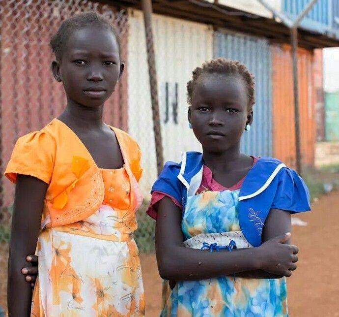 Niñas de Sudán