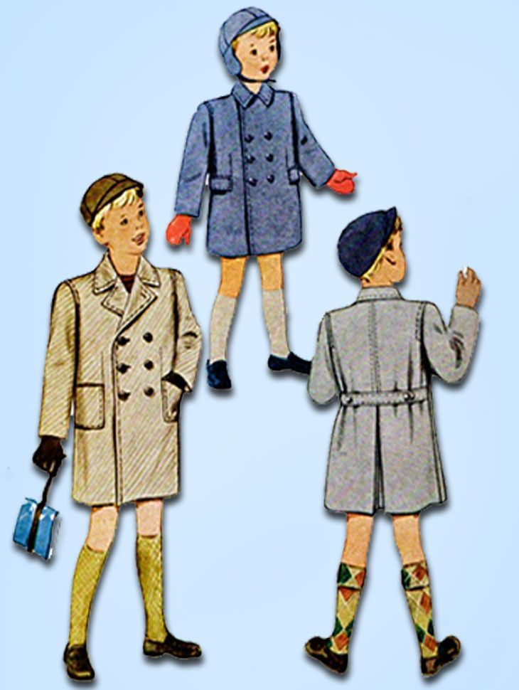 1940s Vintage McCall Sewing Pattern 7009 Uncut Toddler Boys Over ...