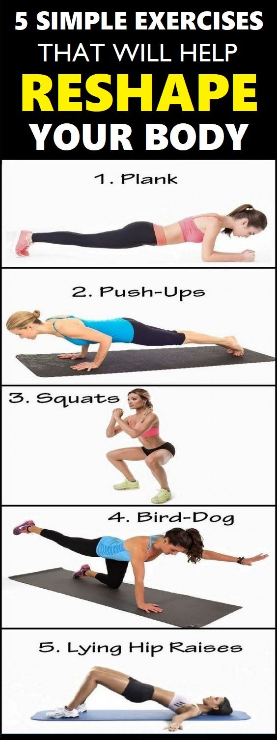Simple Exercises That Will Help Reshape Your Body  fitness