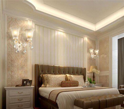 Europeo parete camera da letto matrimoniale pastorale corridoio illuminazione della lampada di - Illuminazione camera matrimoniale ...