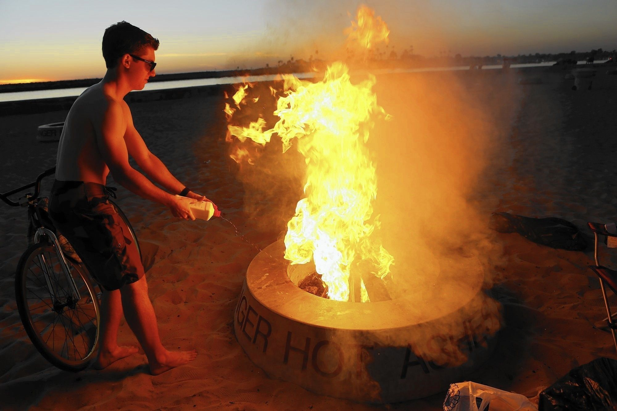Newport Beach's fire rings comply with air quality rules