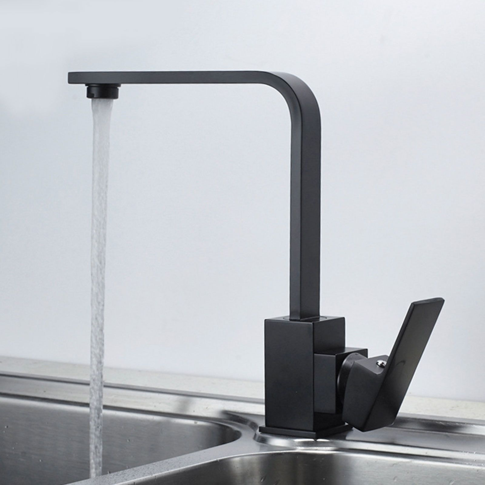 Details about Classic Retro Matt Black Brass Kitchen Basin