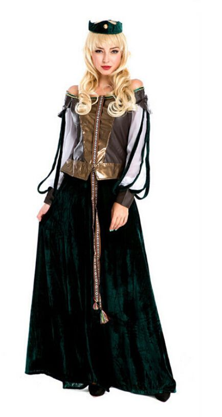 2017 New Hot Women Royal Court Costume Classical Palace Noble Queen Costume Outfit Halloween Party Carnival Cosplay  sc 1 st  Pinterest & Click to Buy u003cu003c new Female clothes Scottish owner installed Cosplay ...