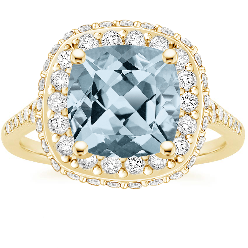 Aquamarine Circa Engagement Ring 1 2 Ct Tw 18k Yellow Gold Setting Price Diamond Rings White Gold