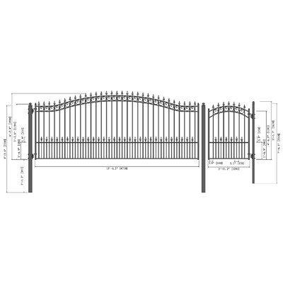 Aleko 6 Ft H Prague Steel Single Swing Driveway Gate With
