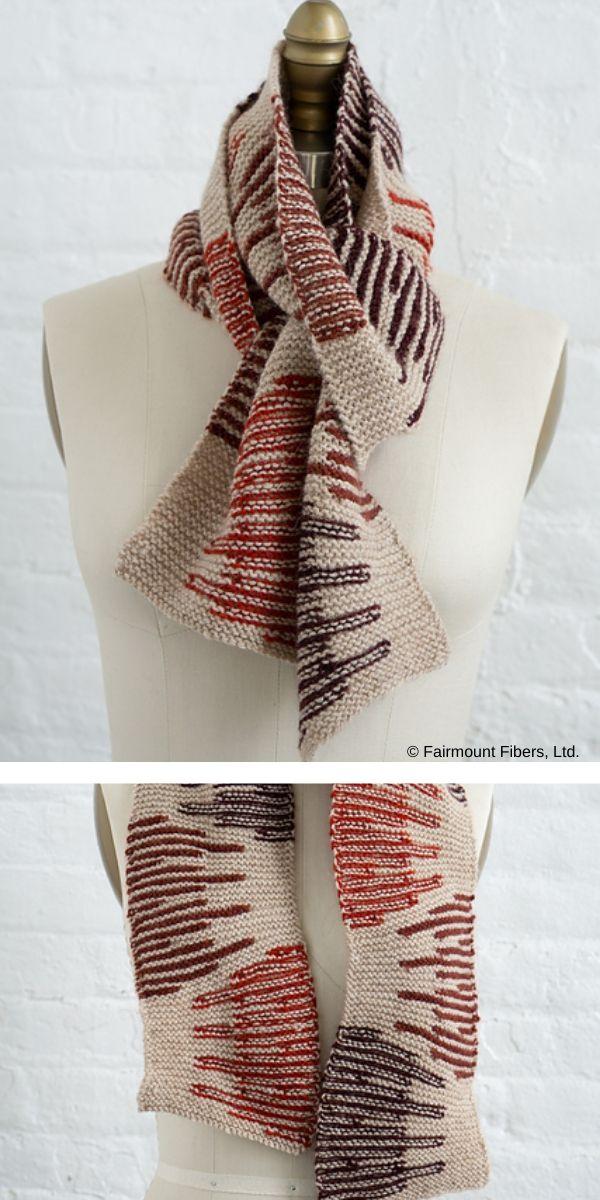 Photo of Destello Scarf Free Knitting Pattern
