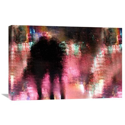 """Global Gallery 'Rain Above The Funfair' by Stefan Eisele Graphic Art on Wrapped Canvas Size: 20.1"""" H x 30"""" W x 1.5"""" D"""