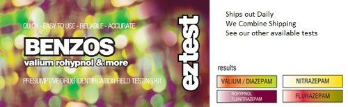 DON'T KNOW IF THIS WORKDS  EZ Test for Benzos-Valium, Rohypnol and more-Presumptive Identification Field Testing Kit EZ Test http://www.amazon.com/dp/B00JERN7GE/ref=cm_sw_r_pi_dp_8XzVvb1GRQDDZ