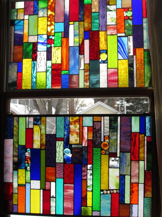 DAZZLE ME 2 Custom stained glass window for Sara
