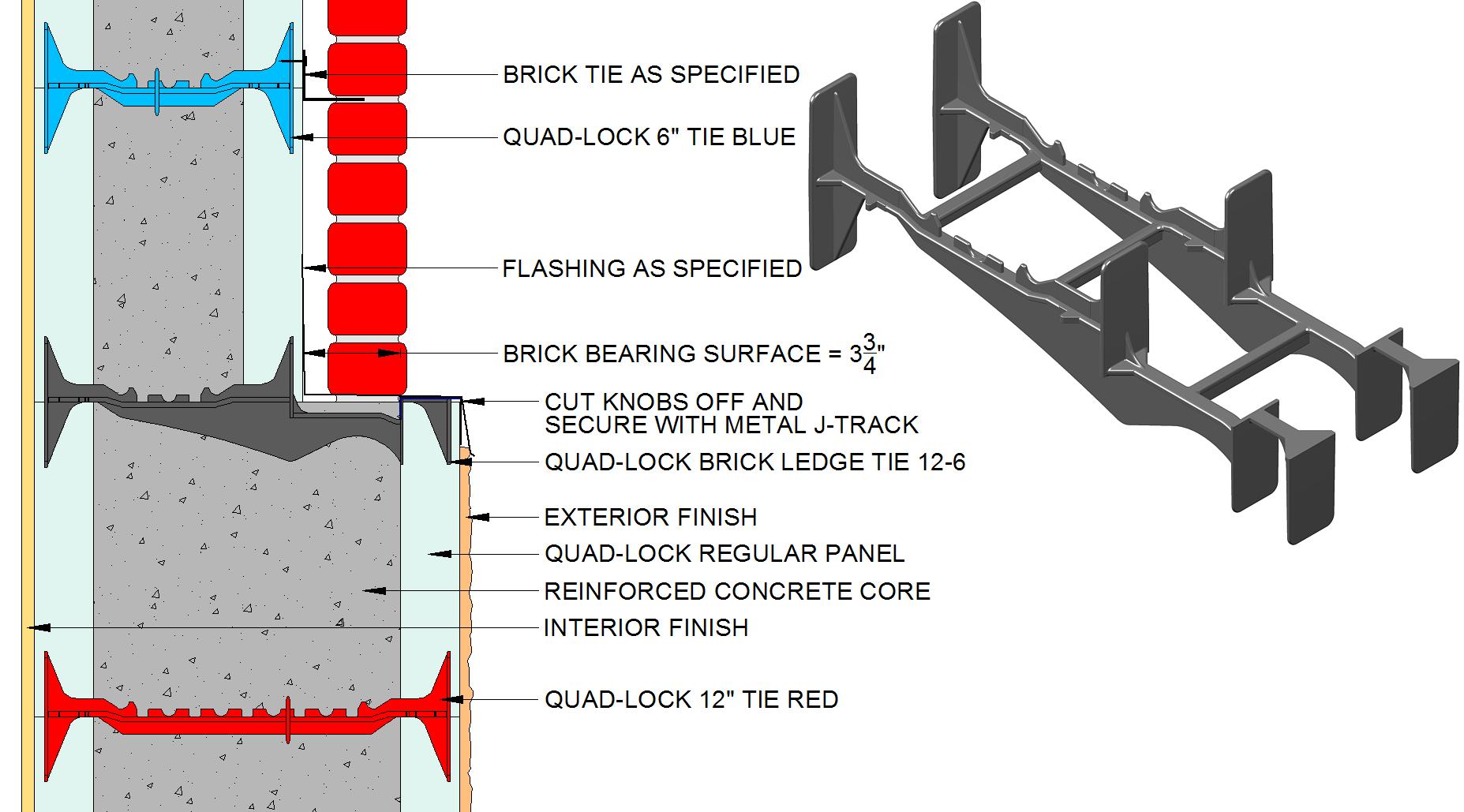 Icf Brick Ledge Assembly Insulated Concrete Forms Concrete Forms Exterior Brick