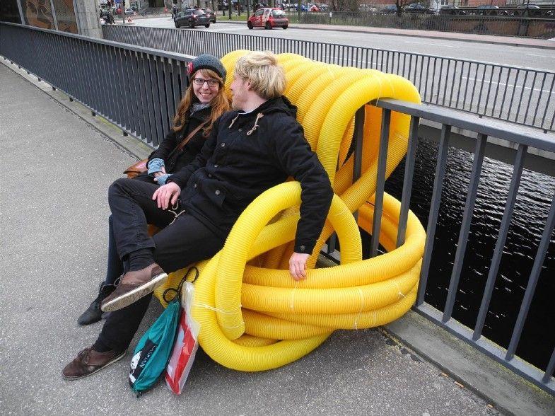Stadtm bel von oliver show urban space pinterest b nke m bel und ffentlicher raum - Yellow mobel hamburg ...