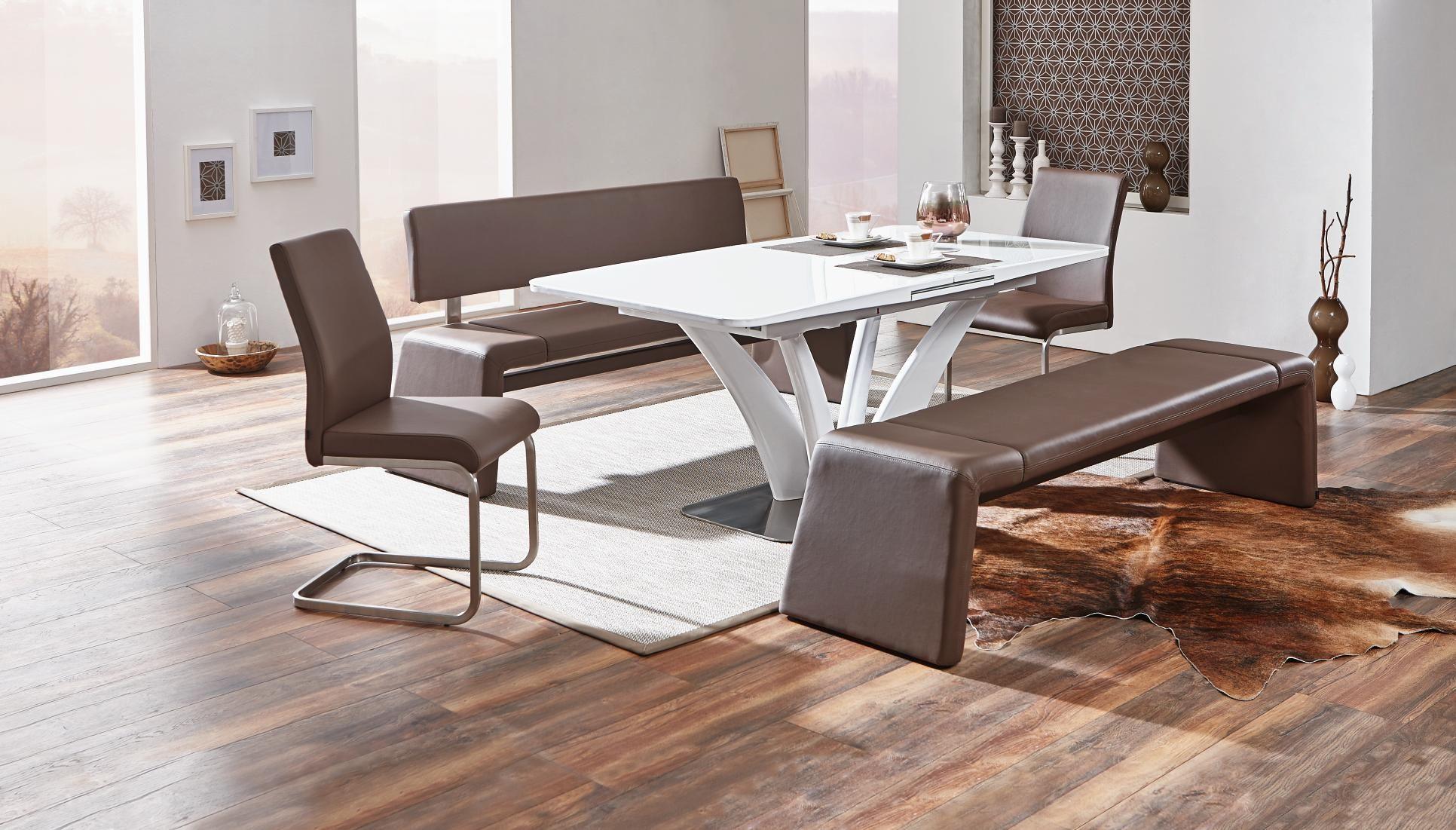 Eleganter Esstisch in Weiß Extravaganz im Esszimmer
