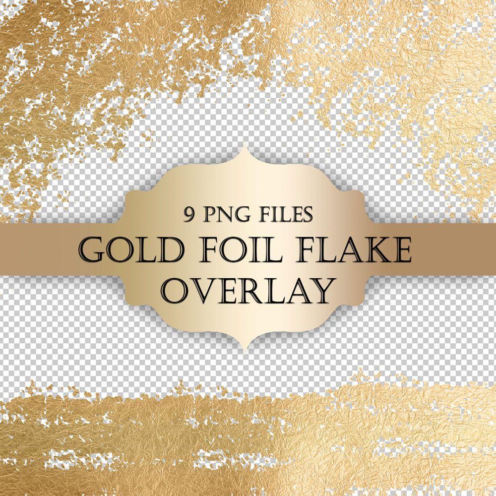 Gold Foil Flake Digital Clip Art Overlay Gold Foil Glitter Etsy Digital Clip Art Overlays Glitter Overlays