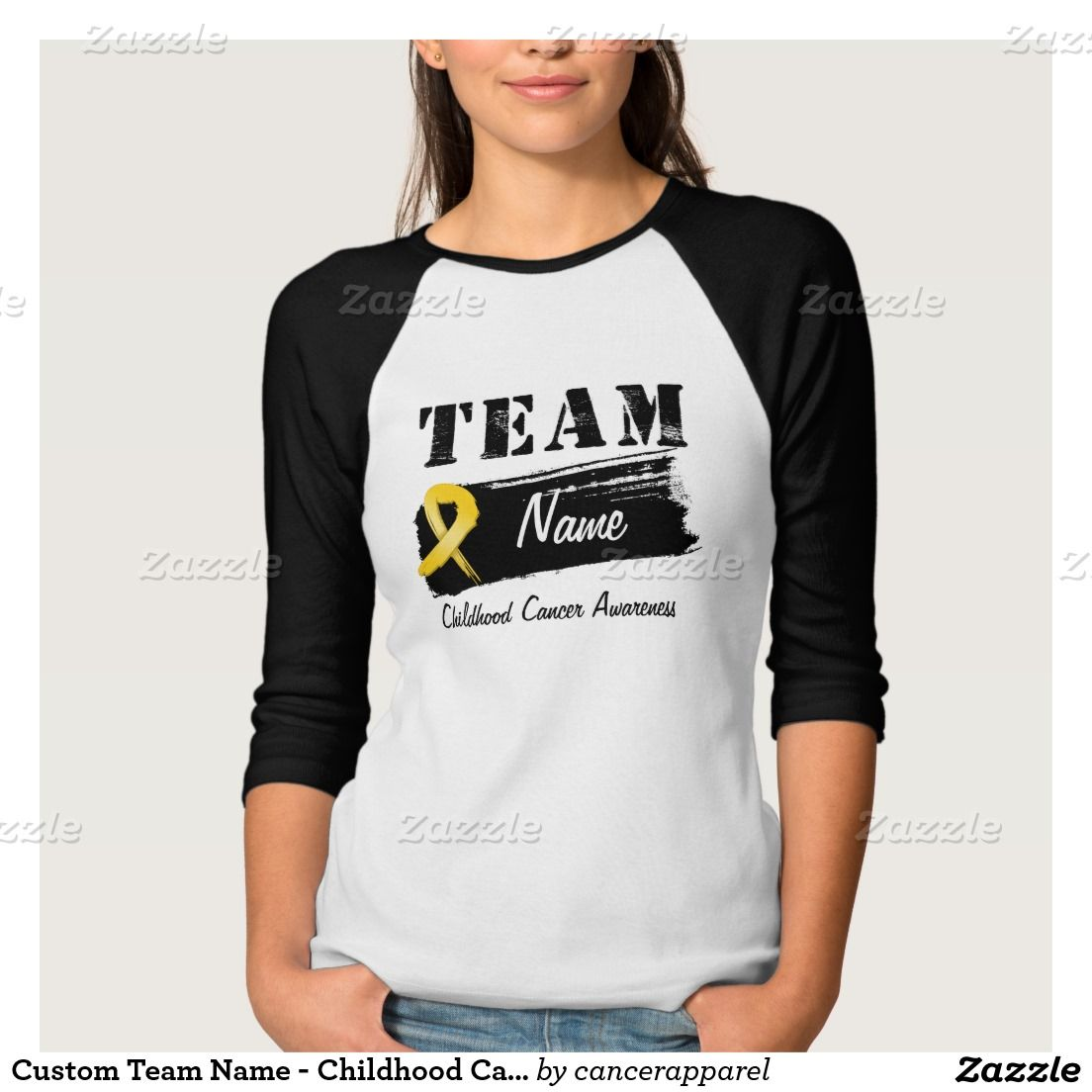 Custom Team Name - Childhood Cancer Shirt | Childhood Cancer ...