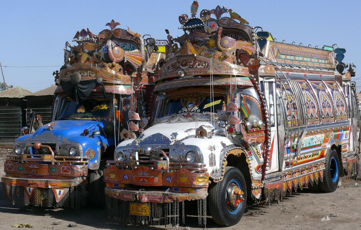 The decorated buses in Pakistan ( Image Jeff Boucher