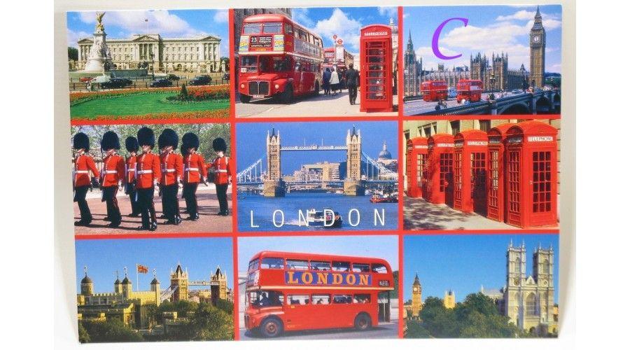 Carte postale multi vues Britanniques 14 modèles   images Londres   Pinterest