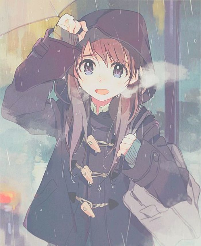 Anime Girl With Brown Hair And Blue Eyes Tumblr   www ...