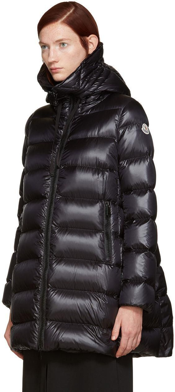 Moncler - Black Down Suyen Coat #Coat #moncler #womanjacket #blackjackets #monclerwoman #womanfashion