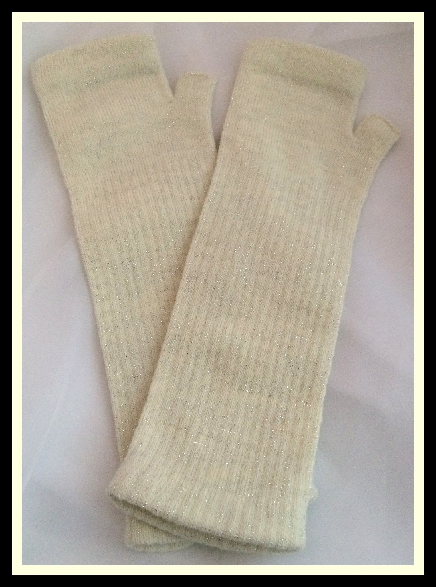 White Knit Fingerless Gloves | Attire | Pinterest