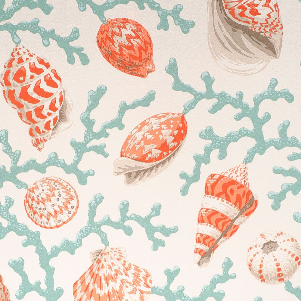 """P/Kaufmann Outdoor Sea Shell Branch Coral 54"""" Fabric in ..."""