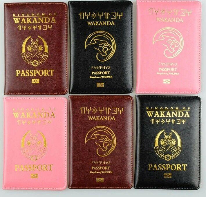 HOT! Wakanda Citizen Travel Passport 2018 Cover Holder PU