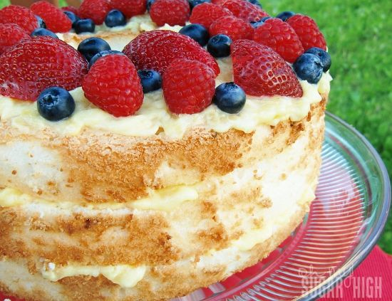 Light pineapple lush angel food cake 1 can 20 oz dole crushed light pineapple angel lush dessert 1 can pineapple 1 pkg vanilla pudding 1 cup cool whip 1 pkg angel food cake 2 cups fresh berries forumfinder Gallery