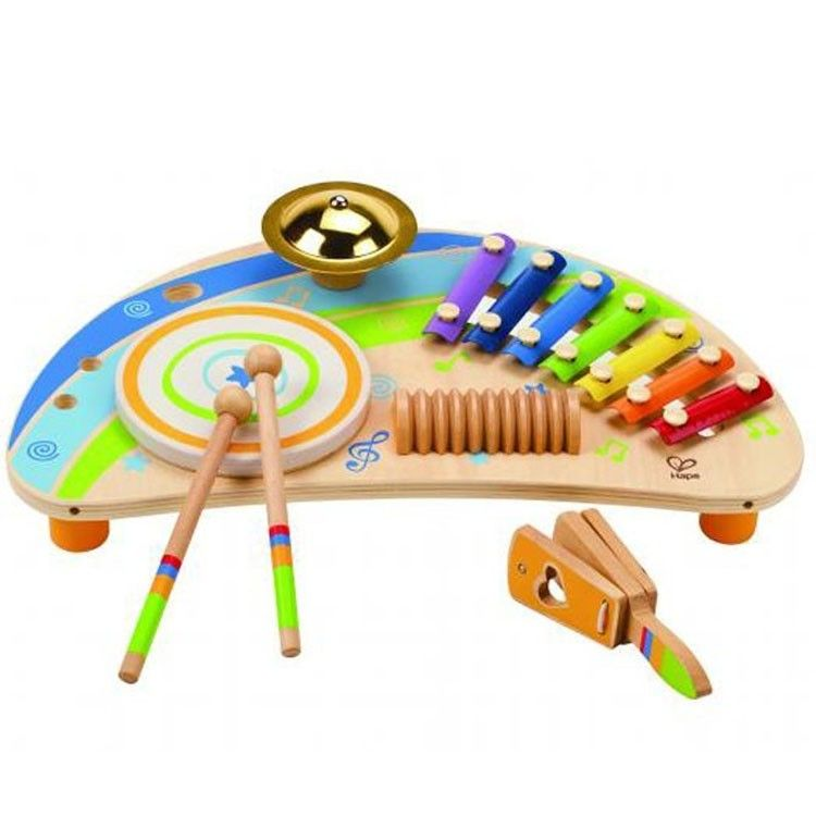This Hape's 5-in-1 percussion musical instruments play set is fun to play and…