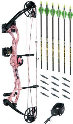 Bear Archery Apprentice 3 RTH Pink Compound Bow Kit by