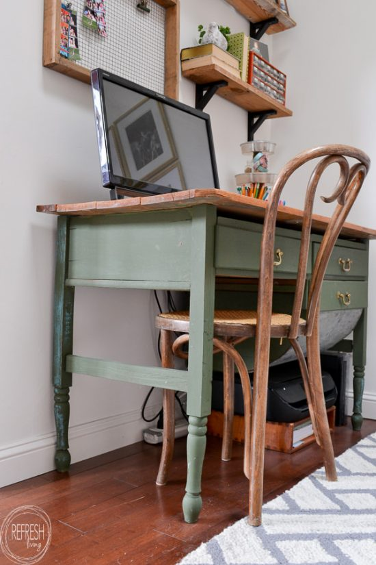 Green Desk from an Antique Baker's Cabinet - Refresh Living - antique decor - #antique #antiquedecor #antiquedesk #antiquetoys #Bakers #cabinet #decor #Desk #Green #jewelry #jewelryaccessories #Living #modernantiquedecor #Refresh #silver