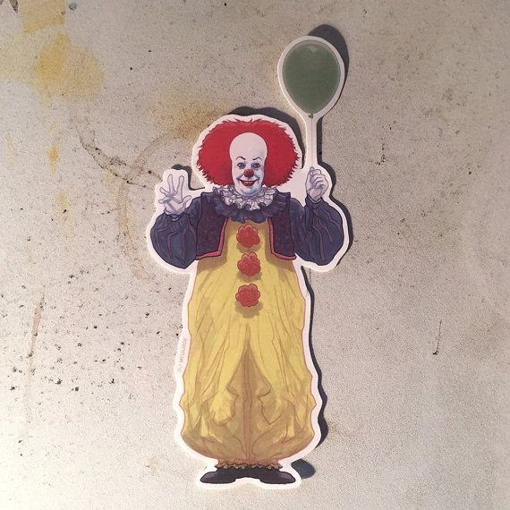 IT Pennywise Clown sticker by CastleMcQuade on Etsy