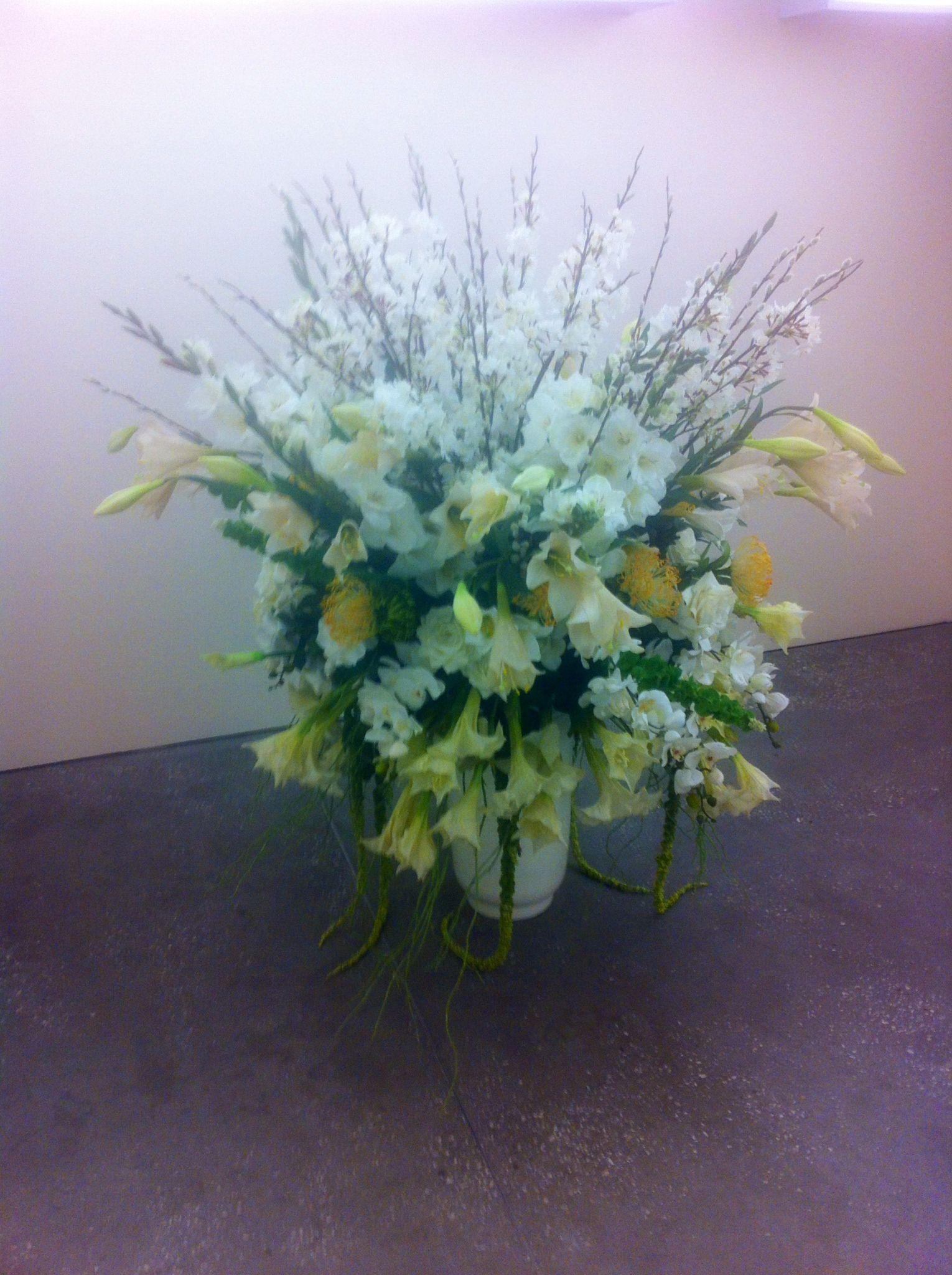 Unnecessarily large and obnoxious flower arrangements.