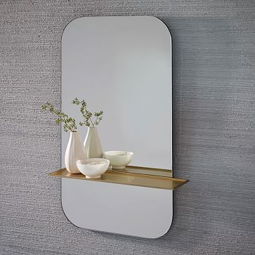 floating shelf wall mirror from west elm i love the shelf on it but not