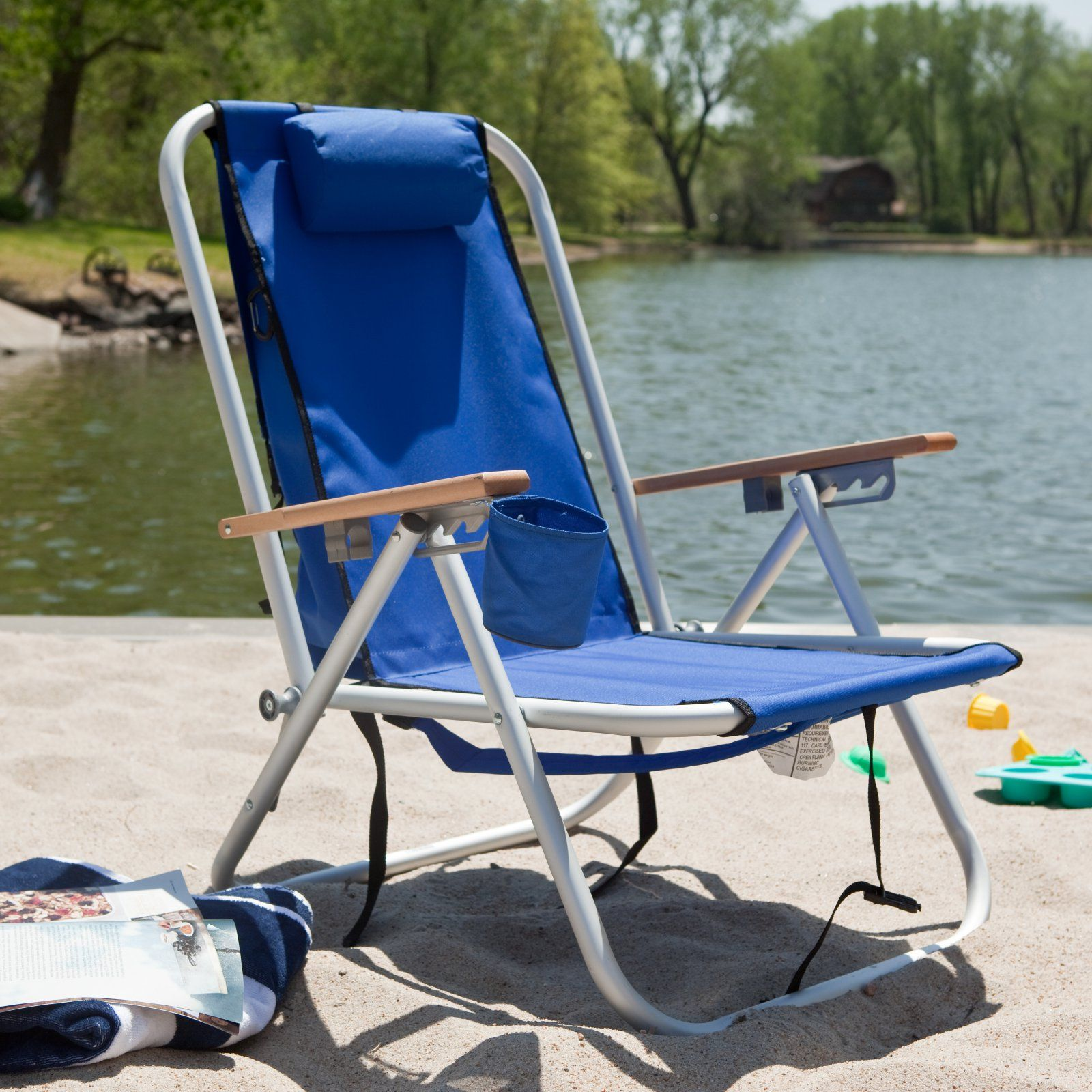 Outdoor Rio Wearever Steel Hi Back Backpack Beach Chair