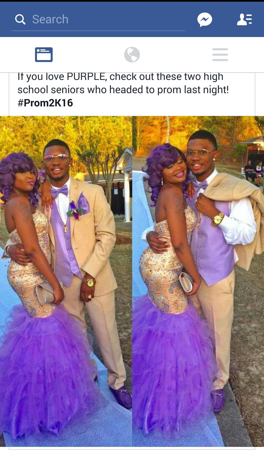Purple And Tan Look Great Together Cute Prom Dresses African Prom Dresses Beautiful Prom Dresses [ 1852 x 1078 Pixel ]