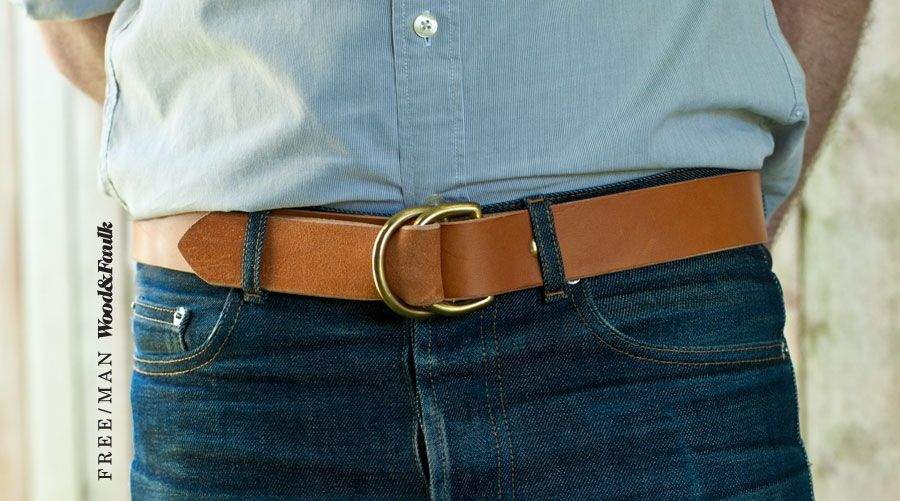 Mens Real Leather Vintage Belt Jeans Chinos Washed Distressed Made In Italy