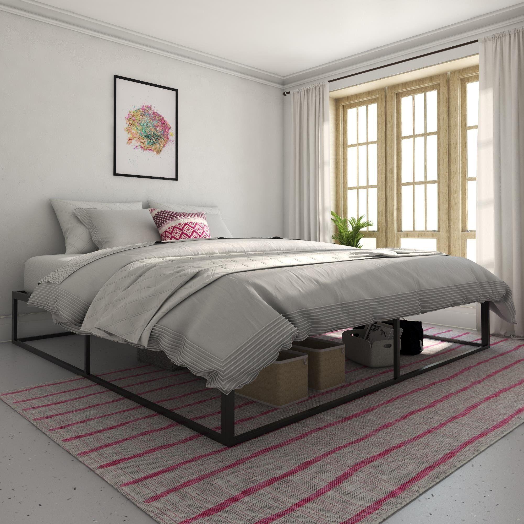 Novogratz Boutique Metal Storage Platform Bed Metal Platform Bed