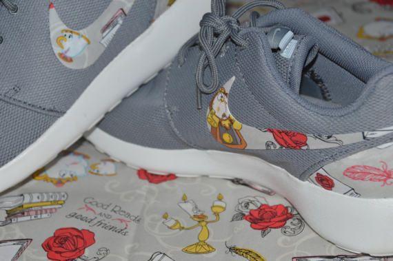 Disney Beauty And The Beast Nike Roshe Run One Shoe Sneaker