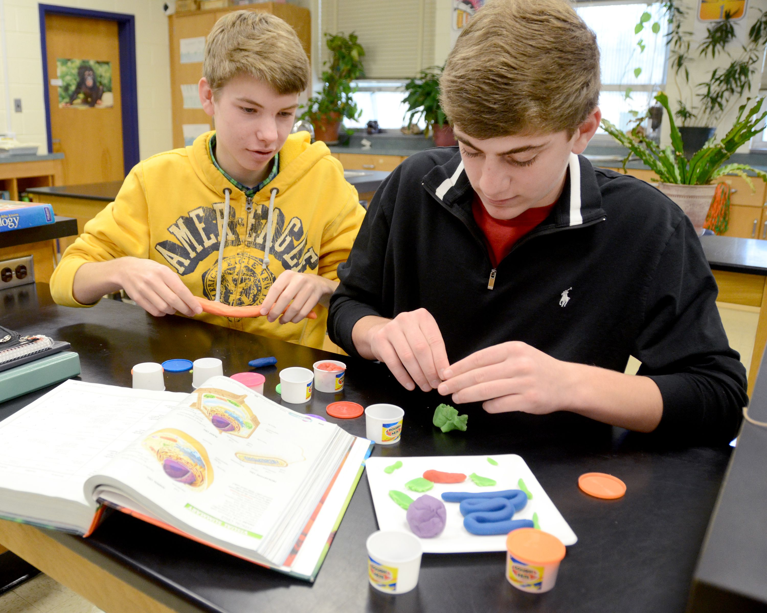 9th Grade Biology Students Use Silly Putty To Construct