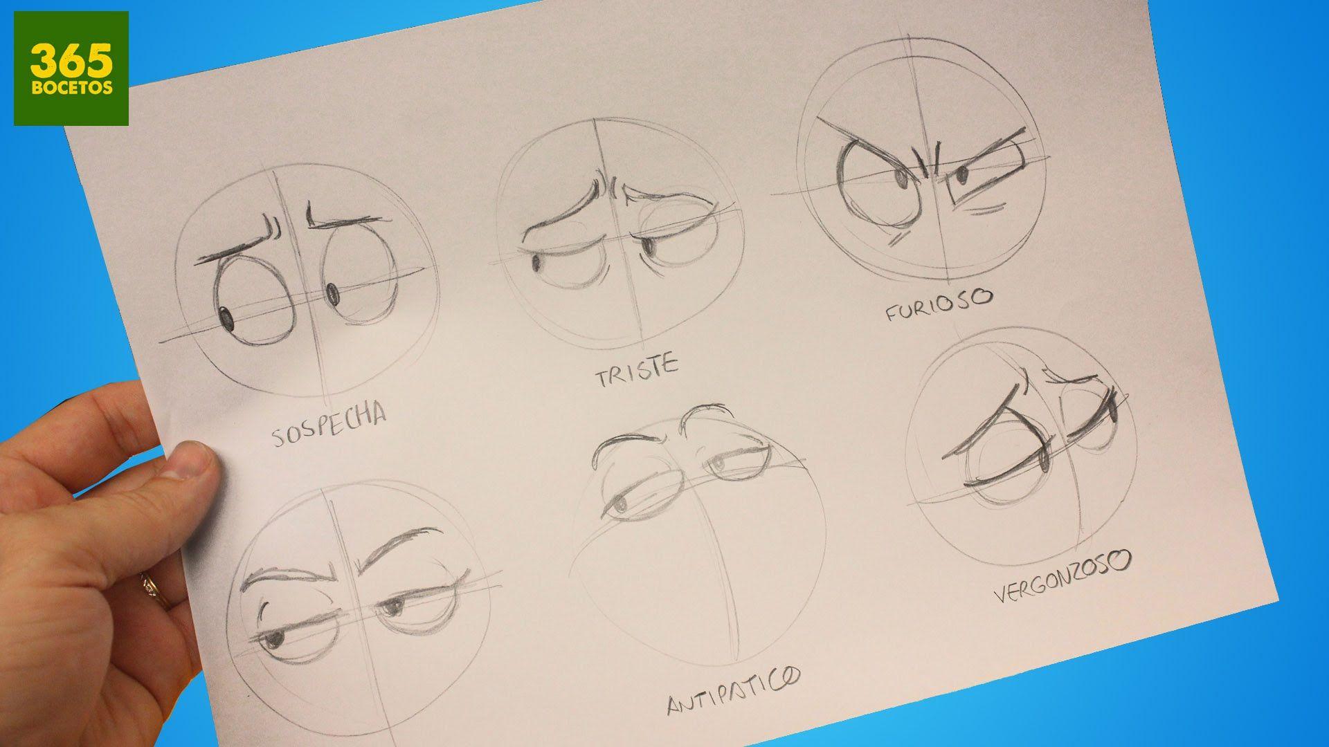 Como Dibujar Ojos Expresiones Faciles Para Tus Dibujos Manga Anime Cartoon Como Dibujar Ojos Dibujos Dibujos De Ojos