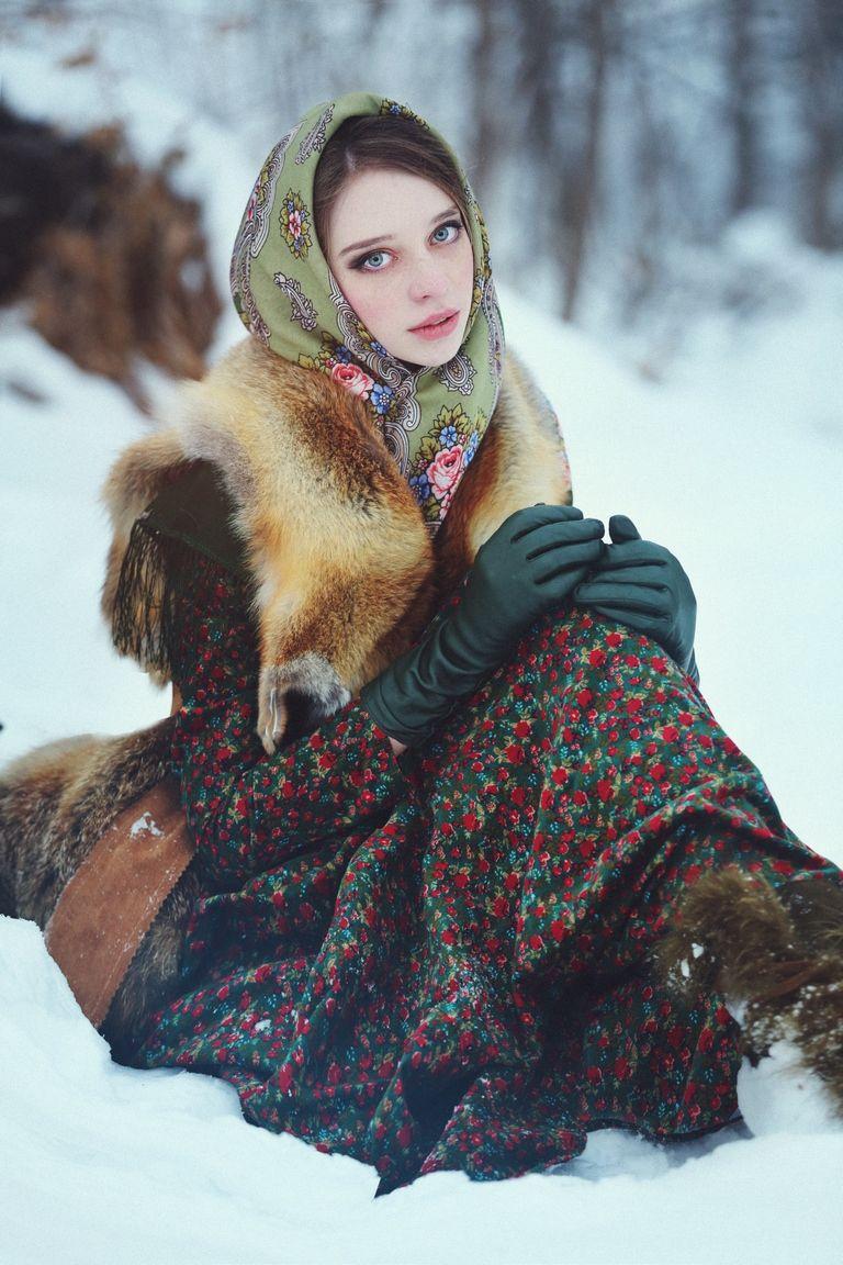 зимние платки мусульманские