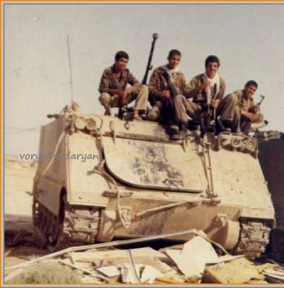 Another IRGC M113A1 with green camo and Dshk MG.