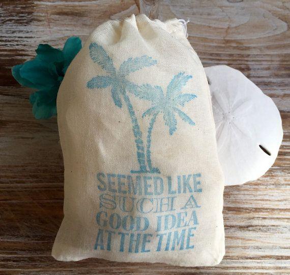 10+beach+themed+cotton+favor+bags+beach+hangover+by+EverlongEvents